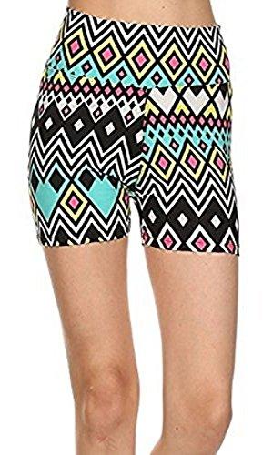 High Waisted Microfiber Legging Shorts