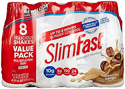 Slimfast Ready to Drink Shakes - Cappuccino Delight - 10 oz - 8 pk