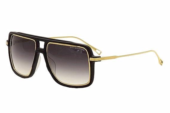 384522b094b2 Dita Westbound 19015A 19015-A Matte Black 18K Gold Fashion Pilot Sunglasses  57mm