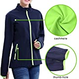 Womens Outdoor Thermal Windproof Jacket with Full Zipper,Cycling Winter Jacket with fleece liner Female Running Coat