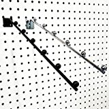 14'' L Pegboard 6 Ball Waterfall Faceout Hook, Chrome - 10 Pack