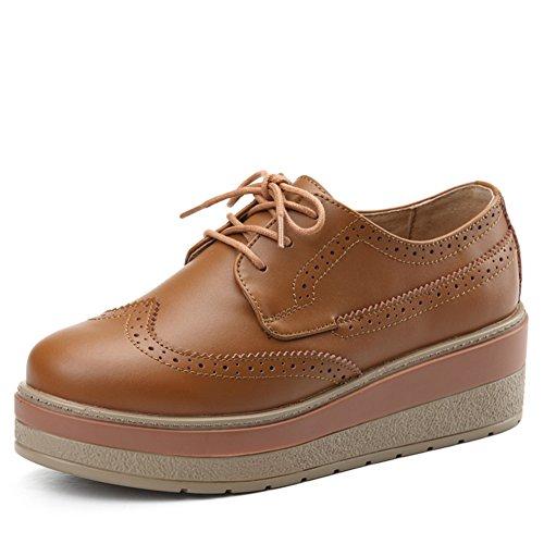 Zapatos de primavera UK gruesa con suela/Mujeres zapatos casuales/Plataforma Buluokesong zapatos mujeres/Zapato del plano/escoge los zapatos A