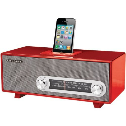 Crosley Ipod Dock (Crosley CR3001A-RE Ranchero Audiophile AM/FM Receiver - Red)