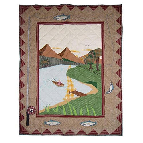 Patch Magic 36 Inch By 46 Inch Gone Fishing Quilt Crib
