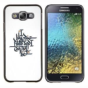 LECELL--Funda protectora / Cubierta / Piel For Samsung Galaxy E5 E500 -- conseguir mi palabra --