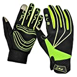 SLB Cycling Gloves - Touchscreen Waterproof Anti-Slip Cycling Gloves for Men Women for Cycling/Running/Climbing(Green, Midium)