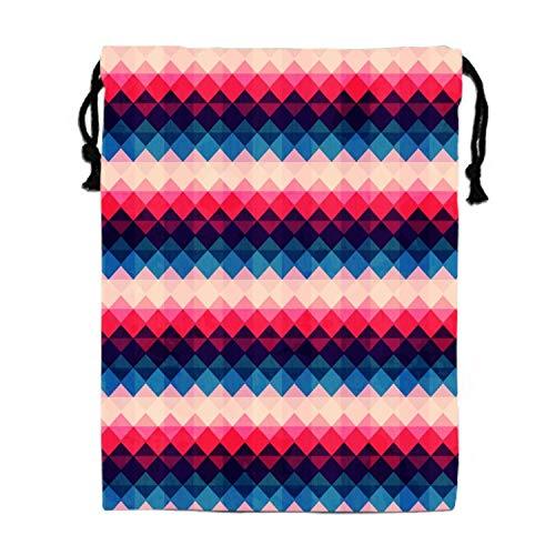 Retro Colored Grips Drawstring Bag ¨C Travel, Beach, Poolside, Gym, Cheerleading, Dance, Gymnastics ()
