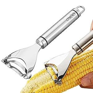 Corn Thresher Peelers Stainless Steel Corn Stripping Tool Kitchen Gadget