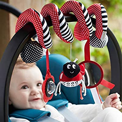 Bed Stroller Hanging Cribs Toy Cute Plush Spiral Soft Toys Hanging Rattle Toy Ladybug : Baby