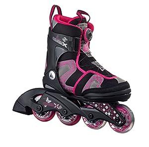 K2 Kinder Inline Skate Charm X Boa, Pink/Grau/Schwarz, M, 30A0201.1.1.M