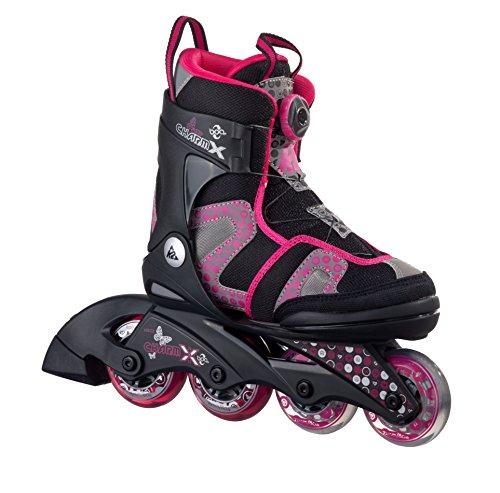K2 Skate Girl's Charm X Boa Inline Skates, Black/Fuchsia,...