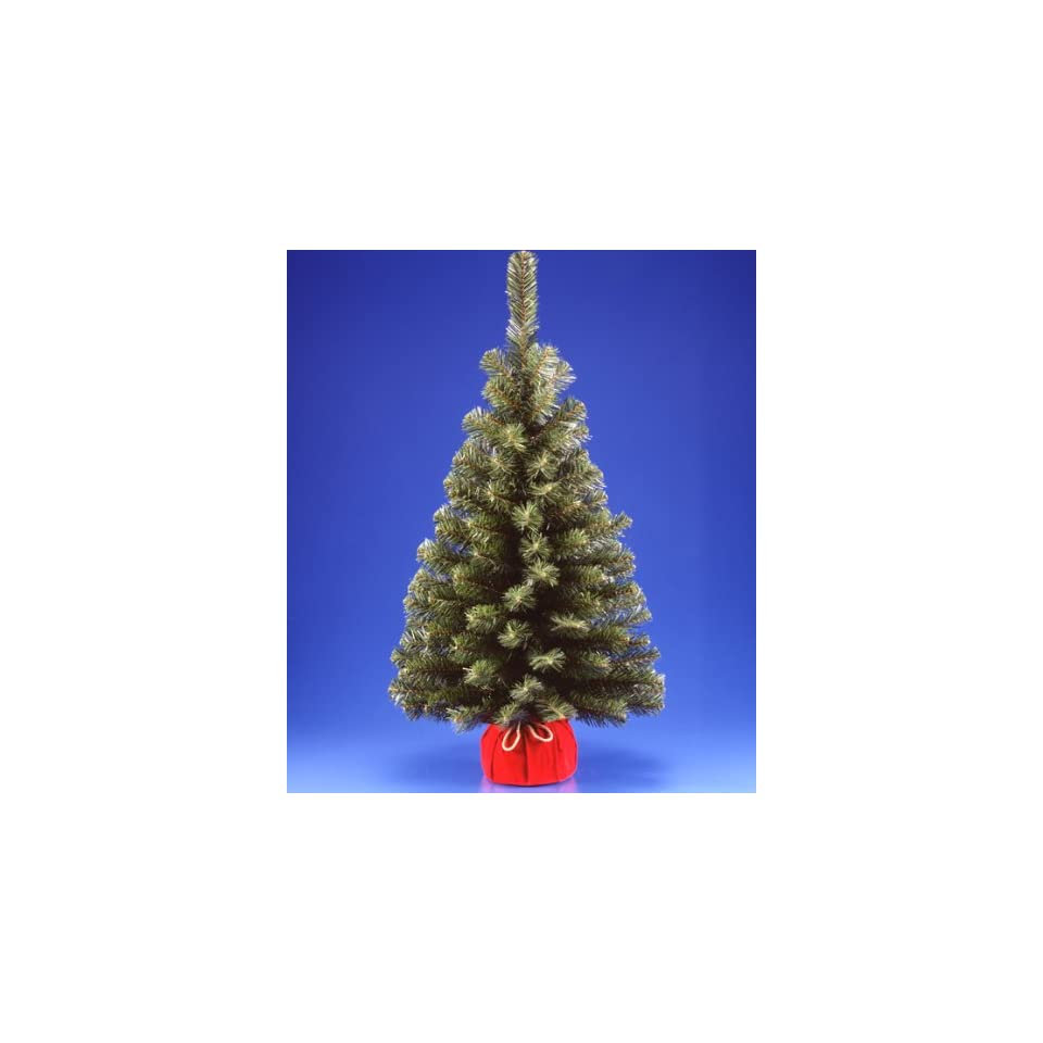 3 Noble Spruce Artificial Christmas Tree In Red Bag