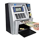 ATM Savings Bank with Sound,Kids' Money Savings Machine for Christmas Gift