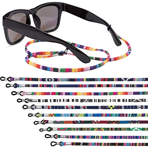 EAONE 10 Pieces Glasses Strap Eyewear Retainer Sunglass Straps Eyeglass Holder Strap Glass Cord Lanyard Unisex Safety Glasses String (Colorful)