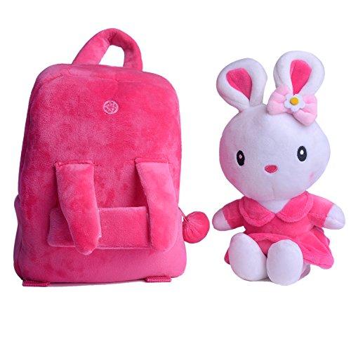Gloveleya Bunny Rabbit Plush Kid's Backpack Shoulder Bags Easter Gifts 8'' for Kids Under 5 Years Old by Gloveleya (Image #4)