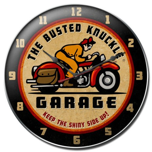 Busted Knuckle Garage BUST059 Motorcycle Clock