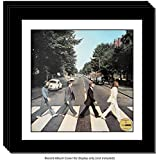 Creative Picture Frames CreativePF [4pk15x15bk-w] LP Vinyl Record Frame Display with White Mat, Cover Insert, Glass and Wall Hanger (4-Pack)