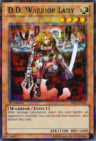 (Yu-Gi-Oh! - D.D. Warrior Lady (BP02-EN021) - Battle Pack 2: War of the Giants - 1st Edition - Mosaic Rare)