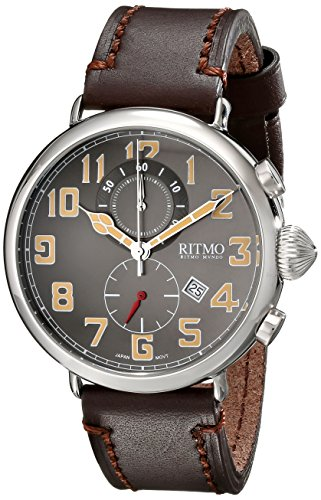 Ritmo-Mundo-Unisex-7051-SS-Grey-Turismo-Analog-Display-Quartz-Brown-Watch
