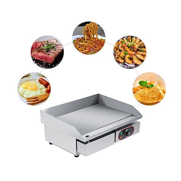 Piastra elettrica da bancone, in acciaio inox, griglia commerciale e professionale, per grigliare carne, bistecche… 6
