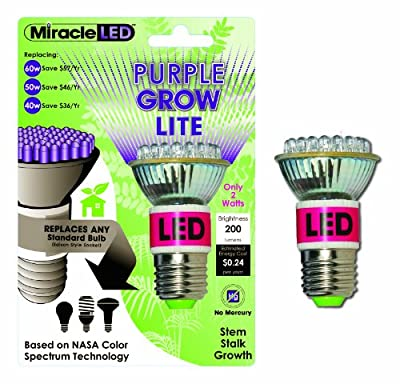 Miracle LED Absolute Daylight Growth Starter Plant Growing Bulb, 6W Blue + 5000K Grow Light 4-Pack (604894)