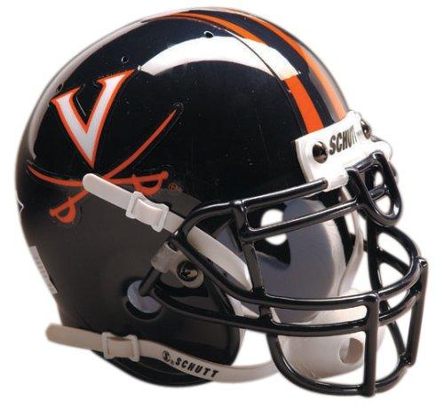 NCAA Virginia Collectible Mini Football Helmet (Cavaliers Virginia Helmet Authentic Mini)