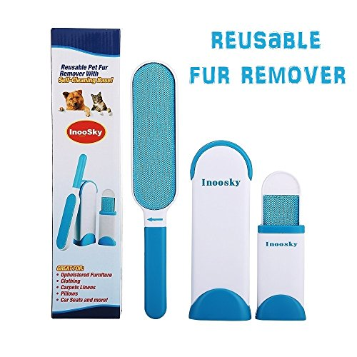 InooSky Pet Fur & Lint Remover, Dog Hair Remover and Cat Hair Remover with Self-Cleaning Base by InooSky
