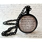 Serenity Prayer Necklace | AA Prayer | God Grant Me the Serenity | Alcoholics Anonymous | Recovery Prayer | Addiction | One Day at a Time
