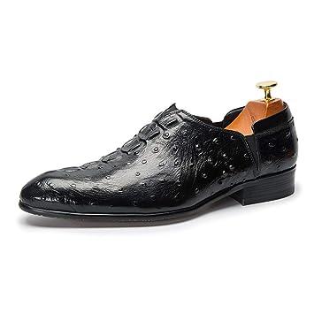 Zapatos de Cuero Vestir Hombre Oxford Cuero Derby Traje ...