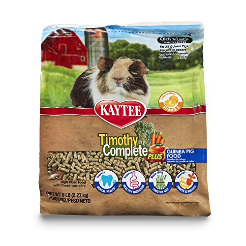Guinea Pig Diet Pet Food - Kaytee Timothy Hay Complete Plus Fruits And Vegetables Guinea Pig Food, 5-Lb Bag