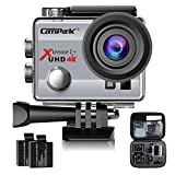 Photo : Campark ACT74 Action Camera 4K 30fps WiFi Ultra HD Waterproof Sports Action Cam,Free Mounting Accessories and 2 Rechargeable Battery for Bikes Motorbike Snorkeling(Silver)