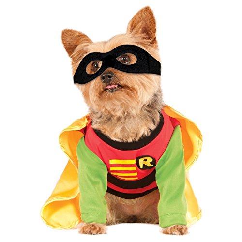 DC Robin Pet Costume (Large) (Dog Batman Mask)