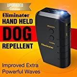 Eliminator Ultrasonic Dog Repellent & Trainer with Bright LED Flashlight / Powerful Dog Deterrent – Stops Barking + Good Behavior Dog Training [UPGRADED VERSION]