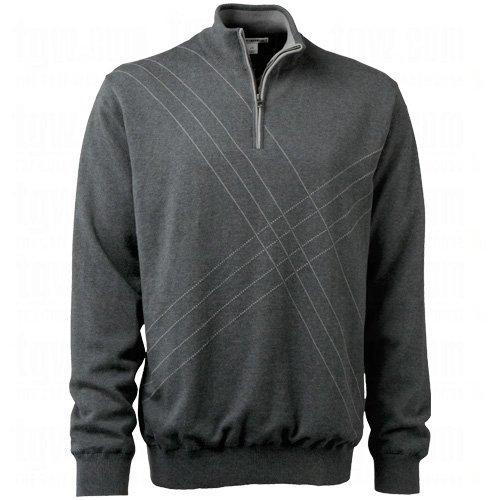 (Cutter & Buck Men's Peak Half Zip Wind Sweater Small Charcoal Heather)