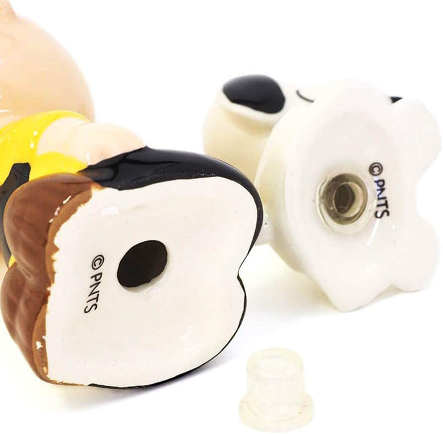 Enesco Peanuts Charlie Brown Petting Snoopy Salt And Pepper Set 6002276 New