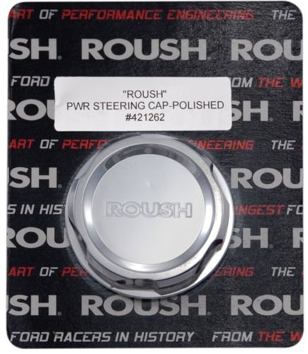 2005-2010 Mustang Roush Polished Engraved Billet Power Steering Cap Cover
