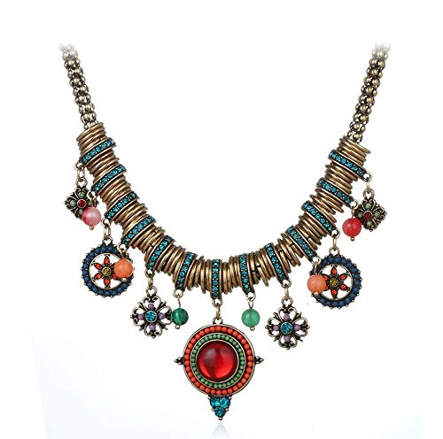 cowgirl-west-antique-vintage-bohemian-tibet-ethnic-red-blue-necklace