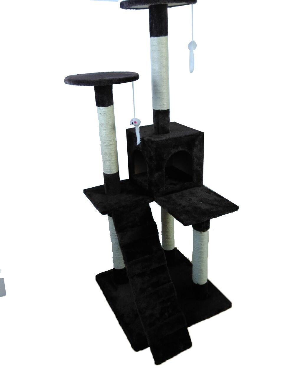 iPet Cat Tree Condo Scratching Post Cat Furniture Pet House Cat Exercise Tree Brown Color