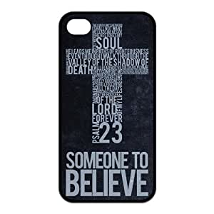 Custom Bible Verse Durable Back Cover Case for iPhone 4 4s wangjiang maoyi by lolosakes