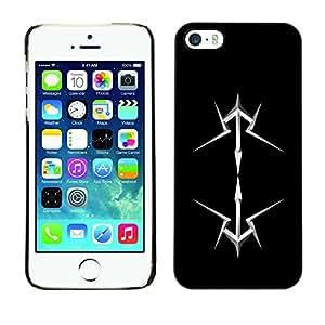 "For Apple iPhone 5 / 5S , S-type abstracto"" - Arte & diseño plástico duro Fundas Cover Cubre Hard Case Cover"