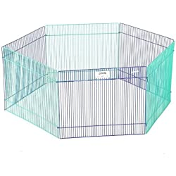 "15"" x 19"", Attractive Epoxy-Coated Panels Small Animal Play Pen"