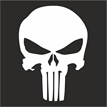 amazon com punisher logo helmet motorcycle decal sticker m1 3 x 2 1