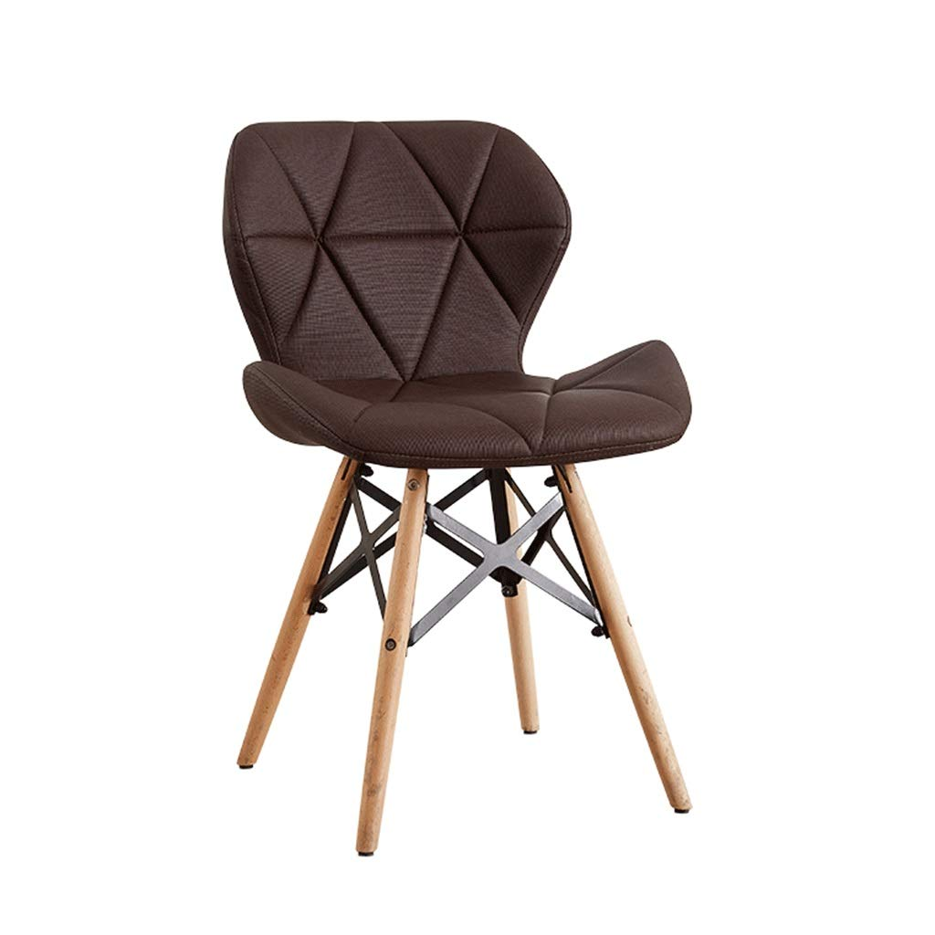 Brown ZCXBHD Eiffel Style Dining Chairs Solid Wood Legs & Cloth Grain Leather Surface Cushioned Pad Comfortable Padded Seat for Office Lounge Dining Kitchen (color   Red)