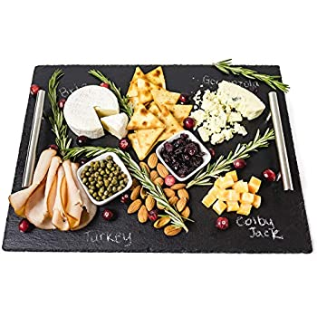 Amazon.com: Tabla para quesos de pizarrón – 7 pc Bandeja ...