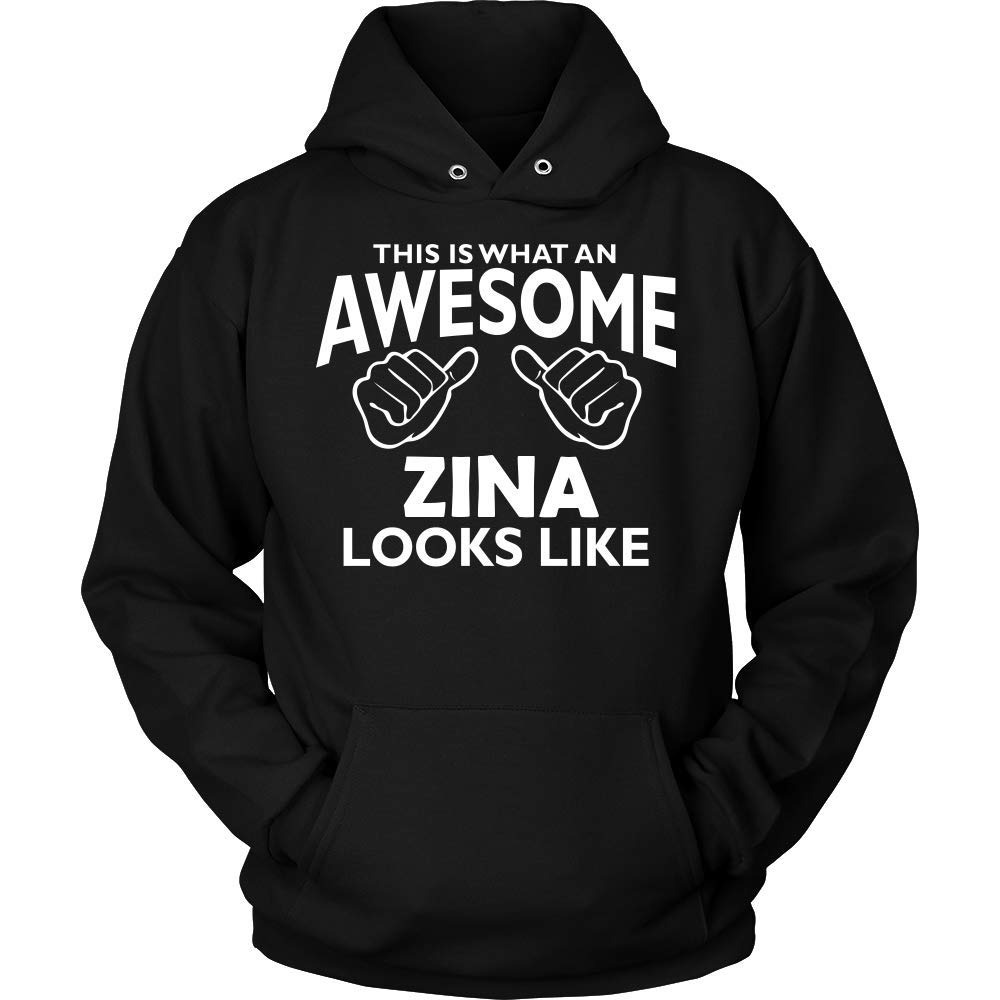 This is What an AWEASOME Zina Looks Like Hoodie Black