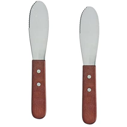 Amazon.com: Pack de 2 Acero inoxidable mantequilla cuchillo ...