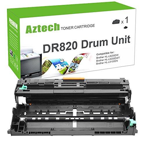 Aztech DR-820 Drum Compatible Drum Unit Replacement for Brother HL-L5100DN Printer HL-L6200DW Drum - (Black Printer Drum)