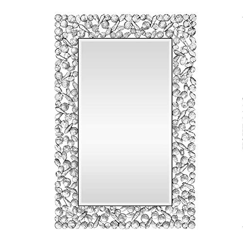 KOHROS Large Antique Wall Mirror Ornate Glass Framed Venetian Decor Mirror Bedroom,Bathroom, -