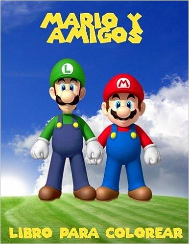 Mario y amigos livro para colorir: un gran libro para colorear para los niños de 40 páginas de diversión.: Amazon.es: K W Books: Libros