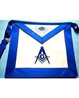 Blue Lodge Master Mason Royal Blue Silky Satin Apron by Equinox MR